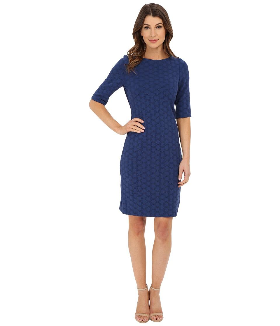 Christin Michaels - Rio Knit Dress (Navy) Women's Dress