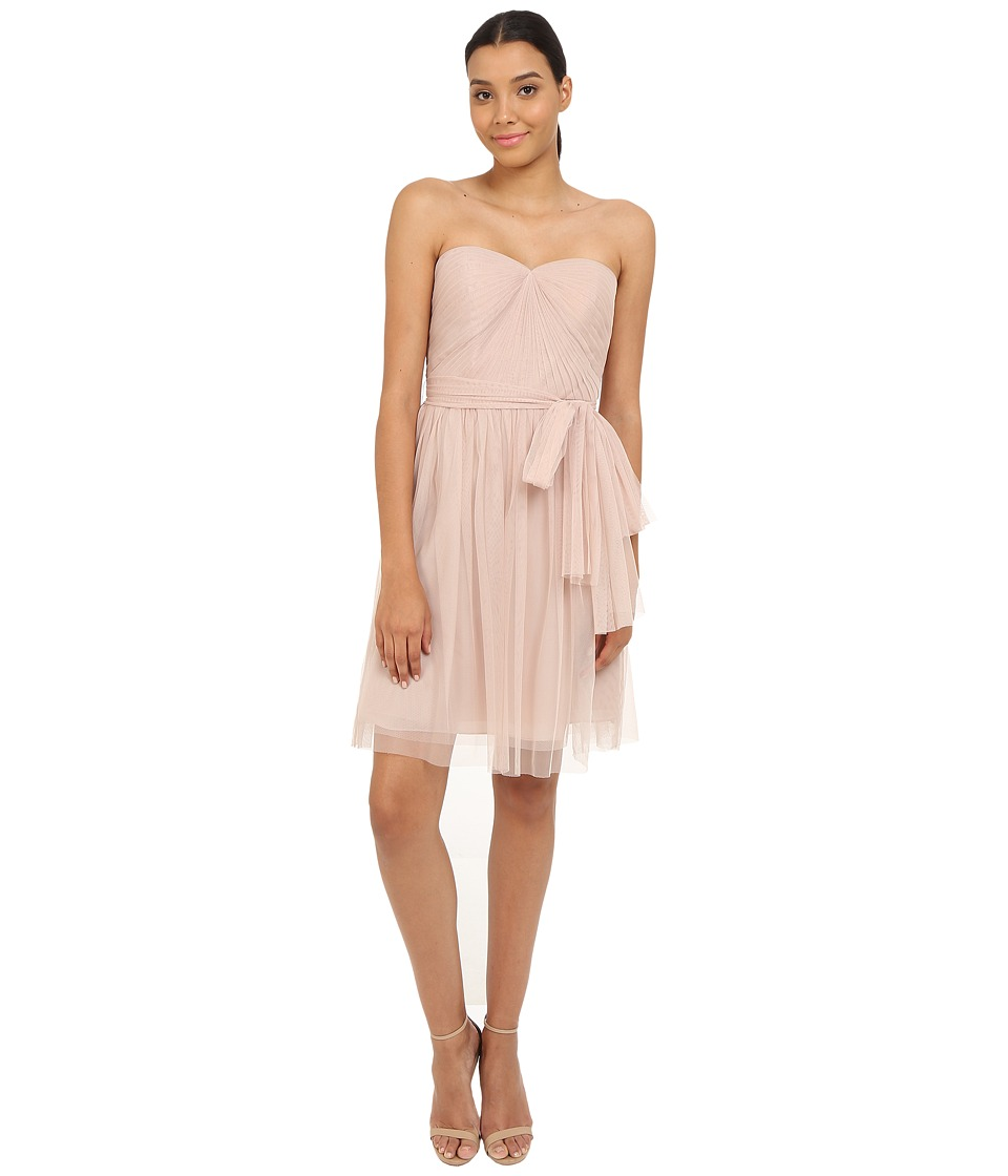 rsvp - Pleated Ciena Bow Dress (Blush) Women's Dress