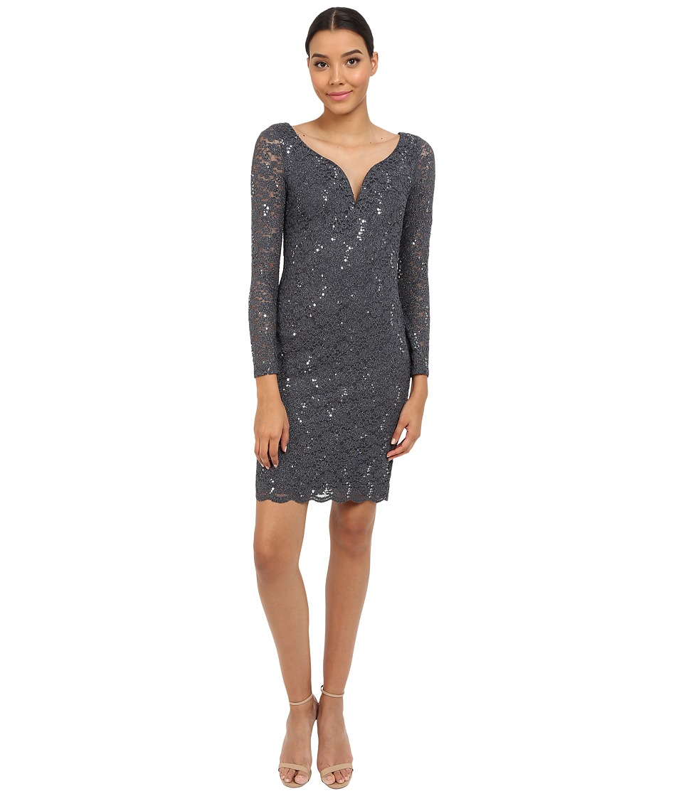 rsvp Matera Short Dress (Gunmetal) Women