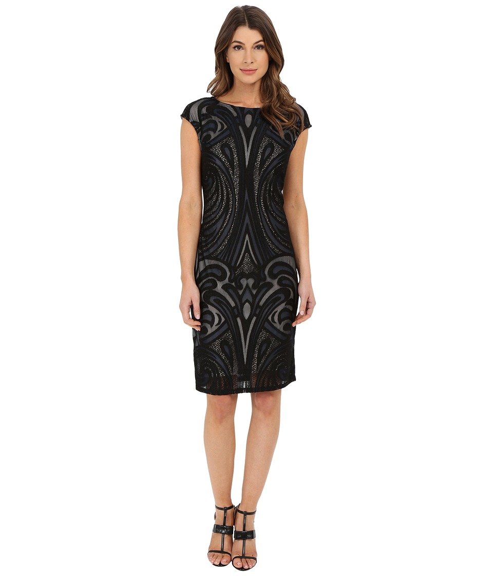rsvp - Champagne Lace Dress (Navy) Women's Dress