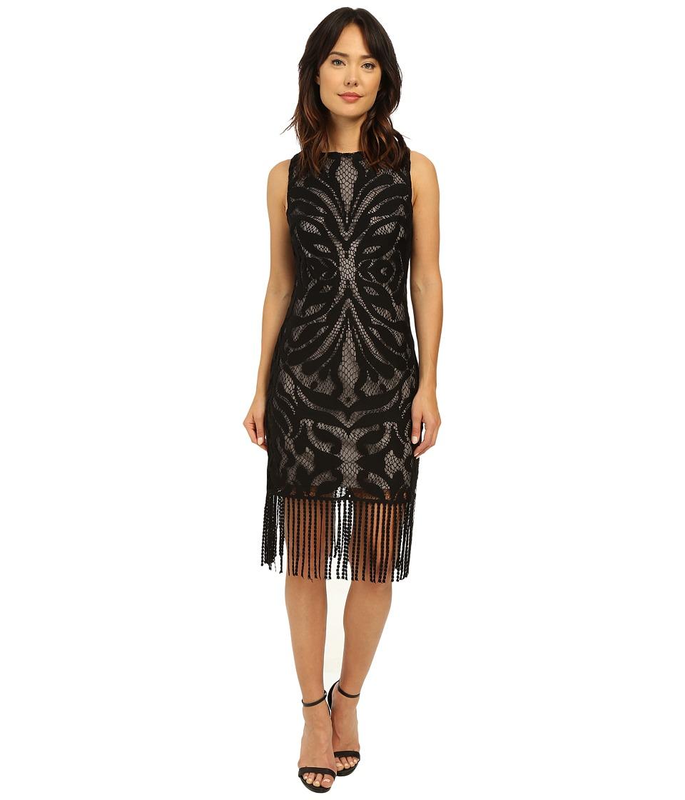 rsvp - Rhone Fringe Lace Dress (Black) Women's Dress