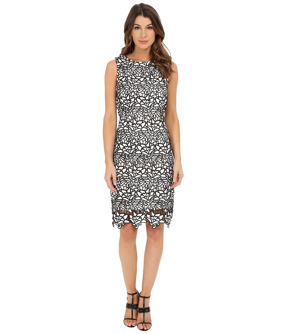 rsvp - Brittany Lace Dress (White/Black) Women's Dress