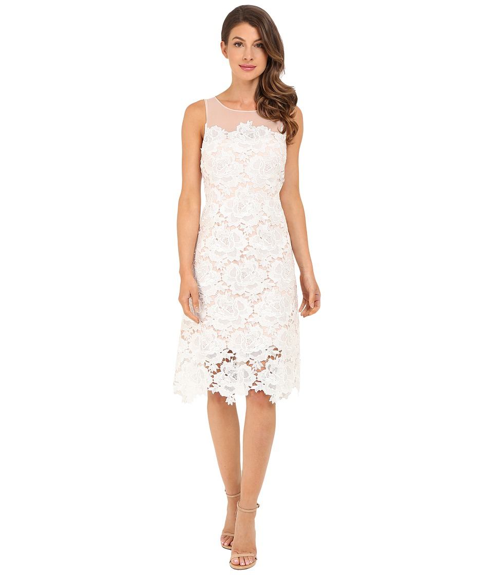 rsvp - Alsace Lace Dress (White Dust Pink) Women's Dress