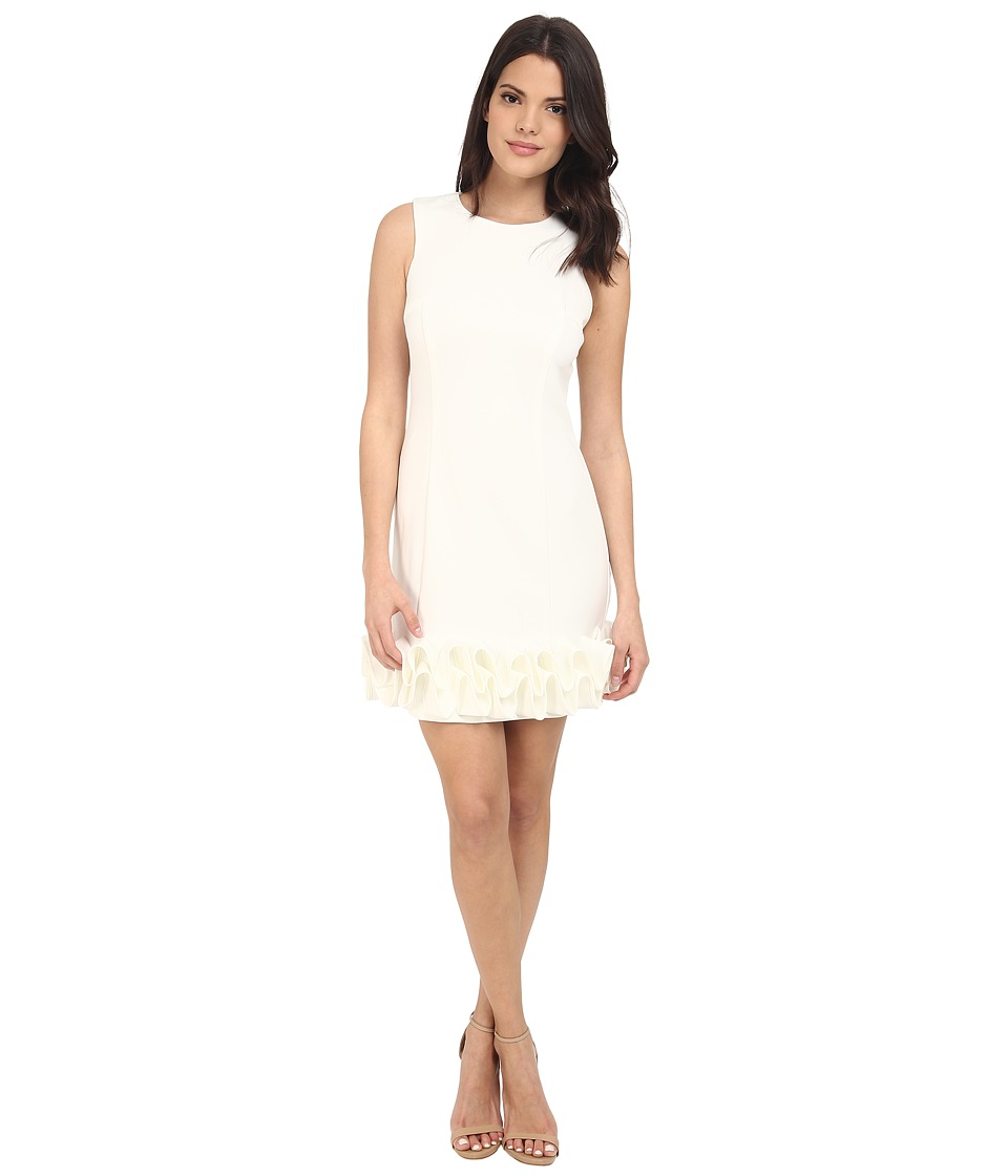 rsvp - Jackie Ruffle Bottom Dress (Ivory) Women's Dress