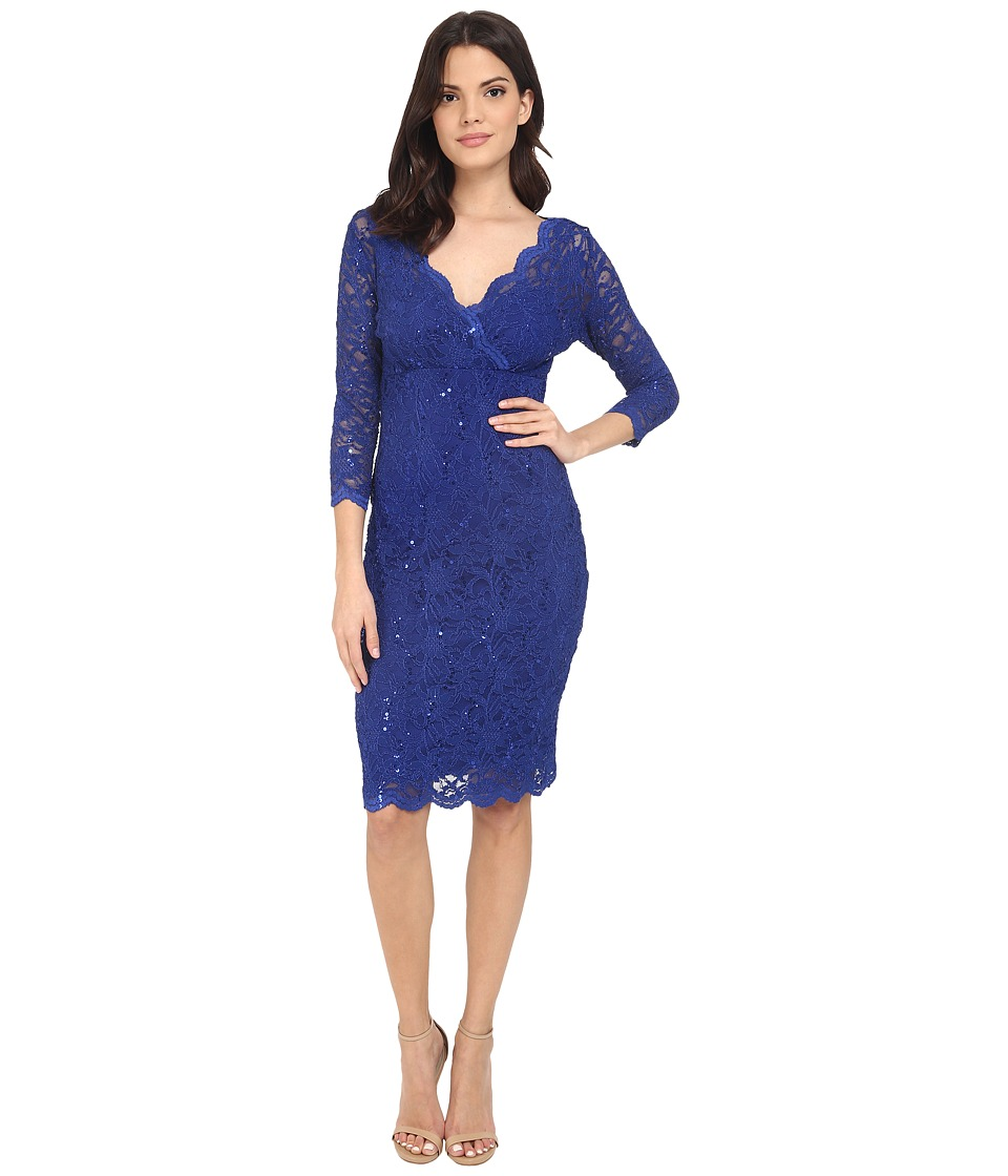 rsvp - Portici Floral Lace Dress w/ Sequins (Royal) Women's Dress