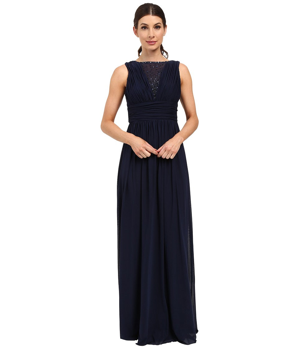 rsvp - Teramo Dress w/ Shirring (Navy) Women's Dress