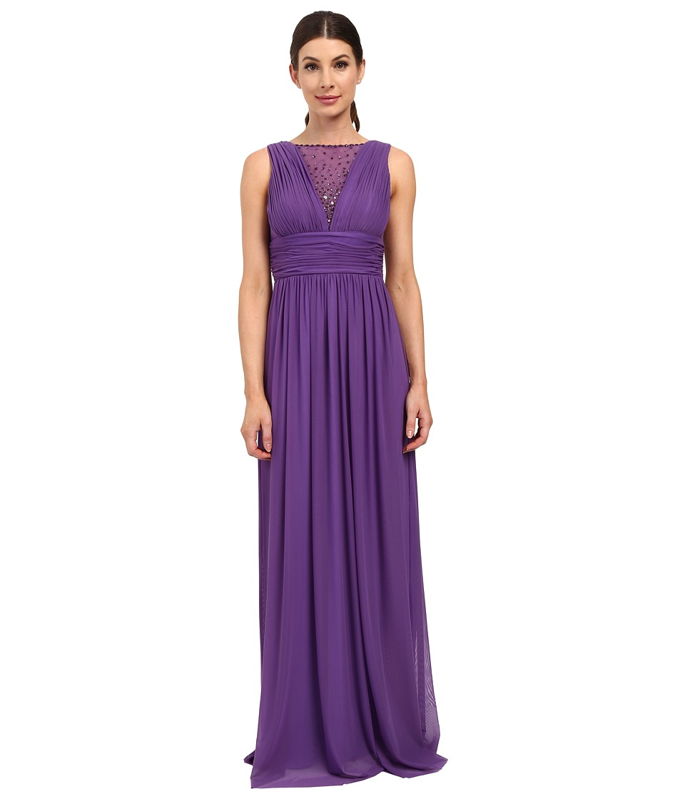 rsvp - Teramo Dress w/ Shirring (Purple) Women's Dress