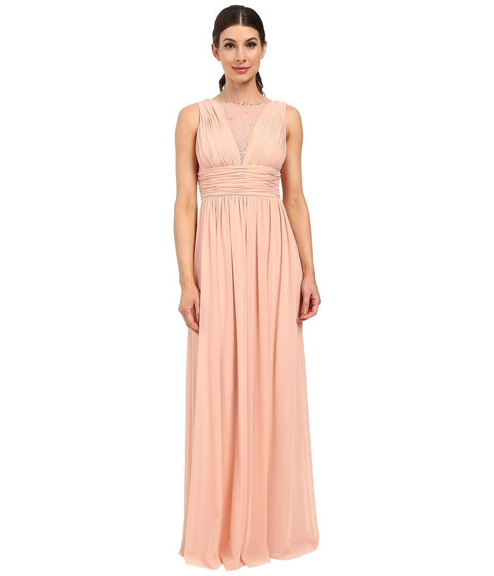 rsvp - Teramo Dress w/ Shirring (Peach) Women's Dress