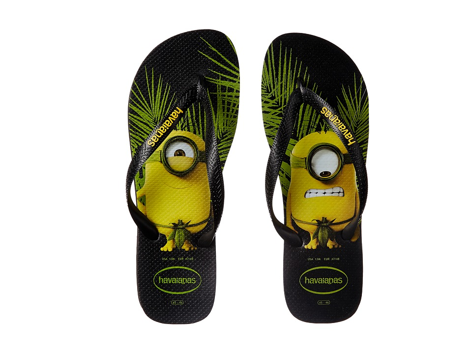 Havaianas - Minions Flip Flops (Black) Men's Sandals