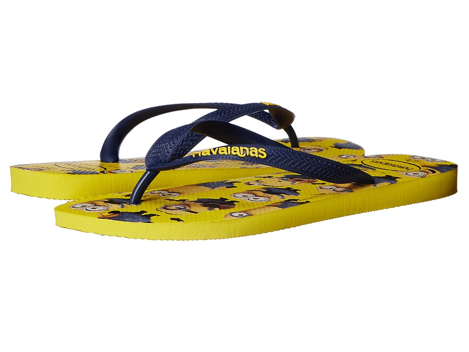 Havaianas - Minions Flip Flops (Yellow/Navy) Men's Sandals
