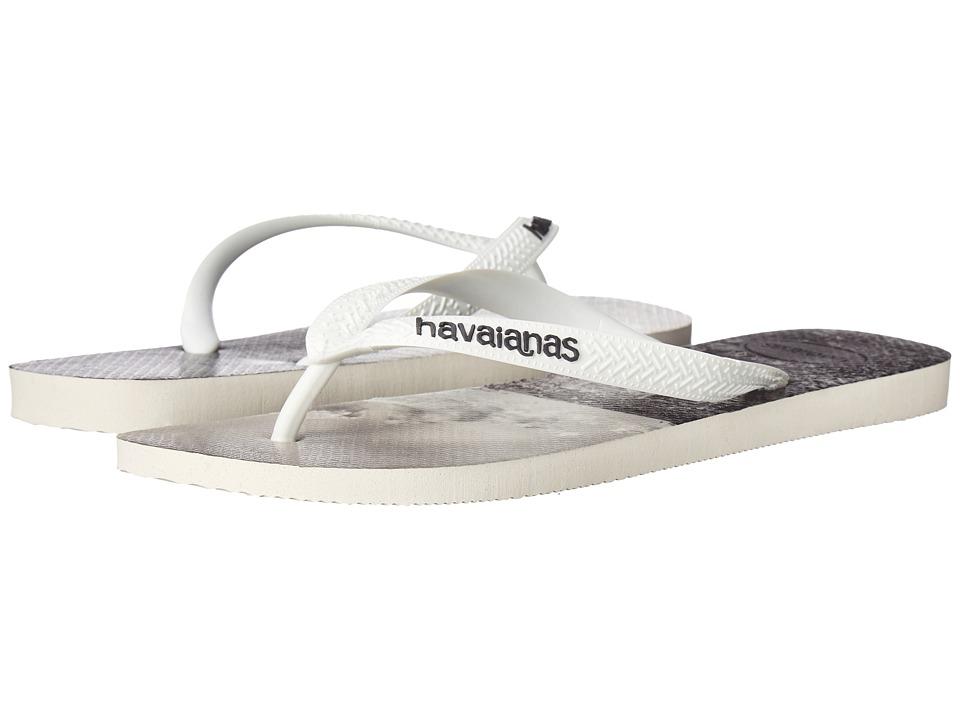 Havaianas - Hype Flip Flops (White/White/Grey 1) Men's Sandals