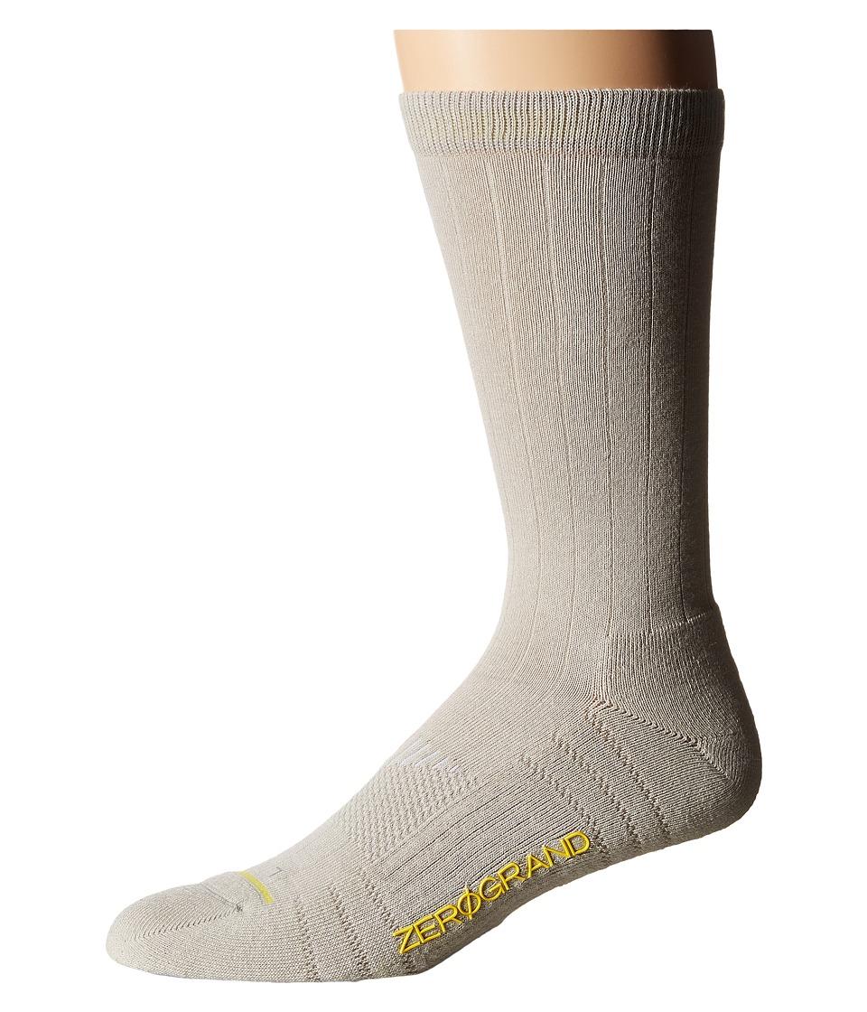 Cole Haan - ZeroGrand Rib Crew (Silver Cloud) Men's Crew Cut Socks Shoes