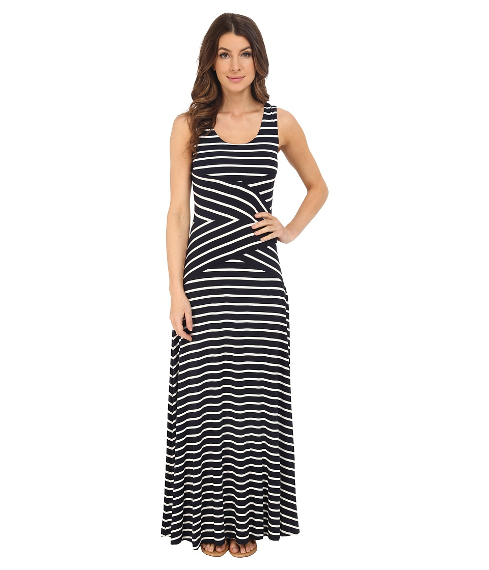 Calvin Klein - Maxi Stripe Dress (Navy Stripe/Navy Combo) Women's Dress