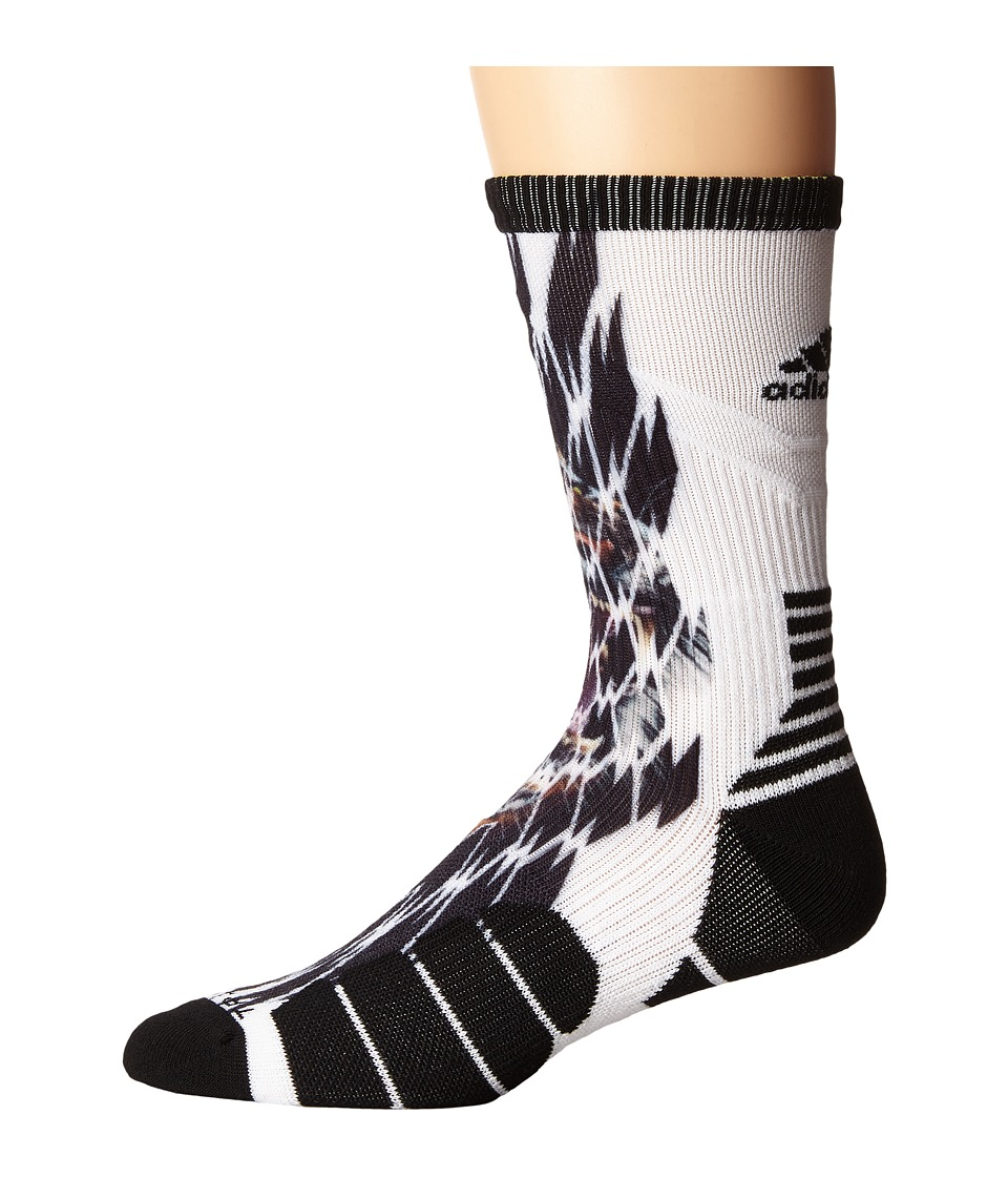 adidas - Uncaged Crew (Tiger Shockweb) Crew Cut Socks Shoes