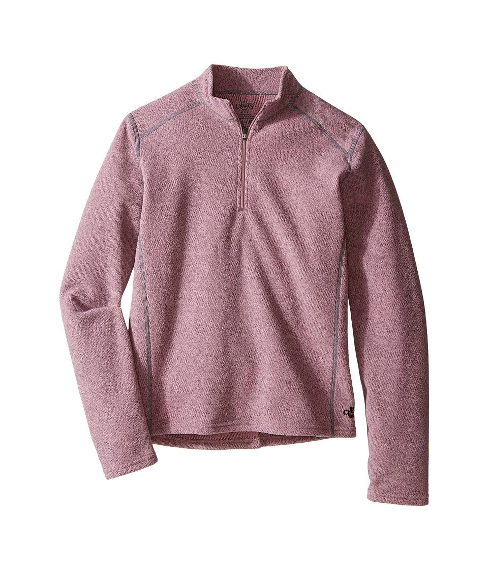 Hot Chillys Kids - Baja Zip-T (Little Kids/Big Kids) (Petal Pink) Girl's Clothing