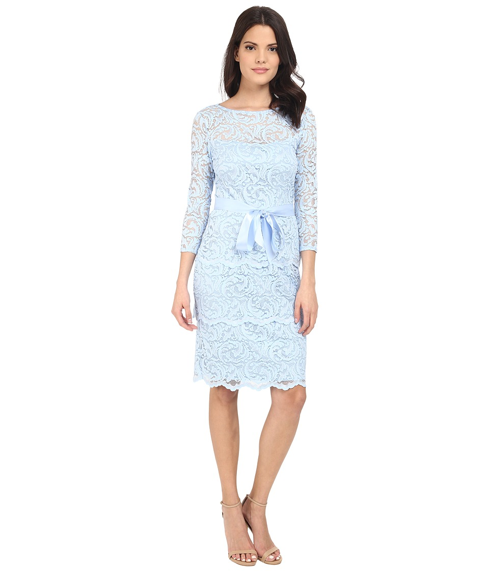rsvp - Gramercy Short Floral Lace (Blue) Women's Clothing