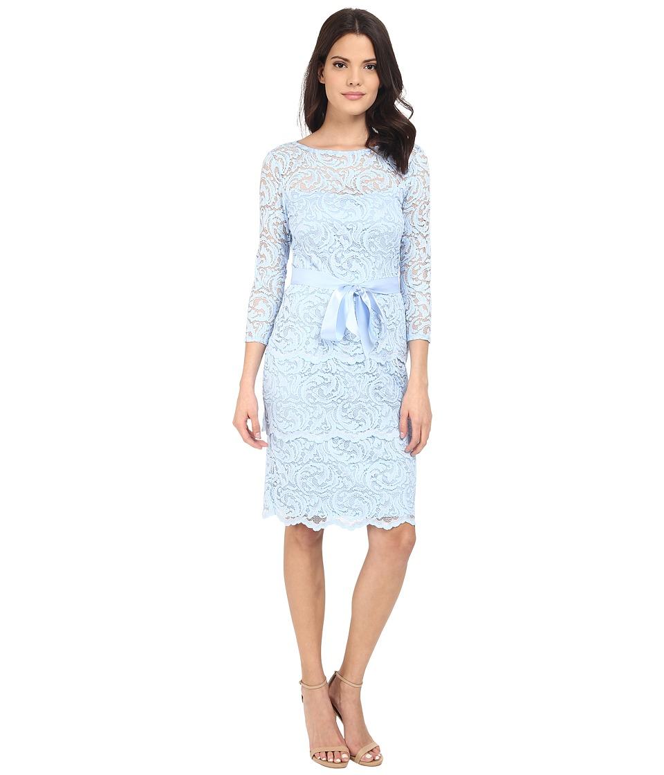 rsvp - Gramercy Short Floral Lace (Blue) Women's Clothing
