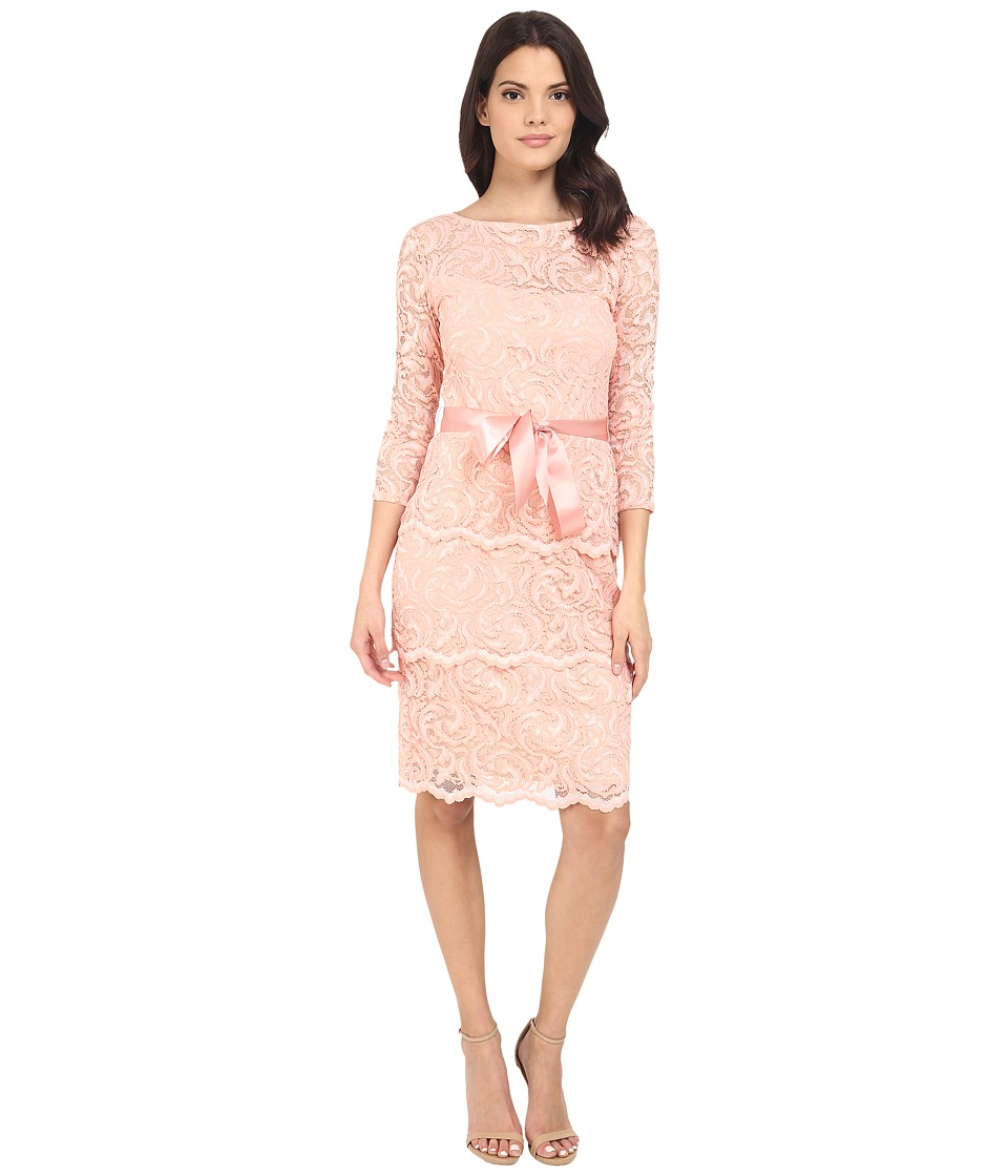 rsvp - Gramercy Short Floral Lace (Peach) Women's Clothing