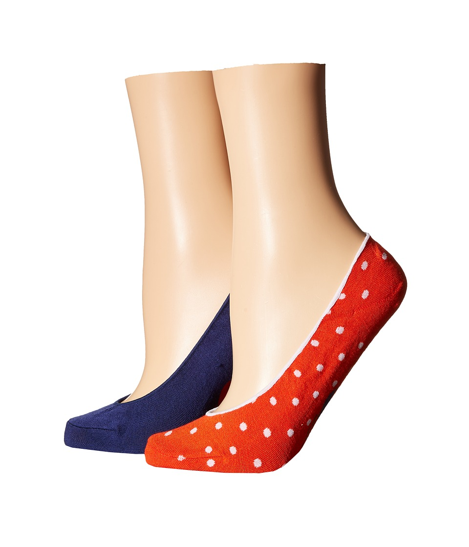 Cole Haan - 2-Pack Pin Dot Liner (Assorted) Women's Crew Cut Socks Shoes