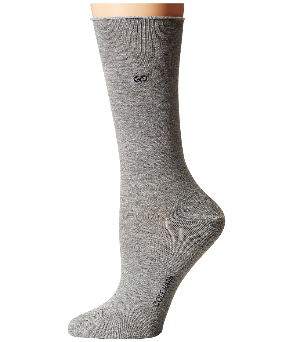 Cole Haan - Roll Top Crew (Grey Heather) Women's Crew Cut Socks Shoes
