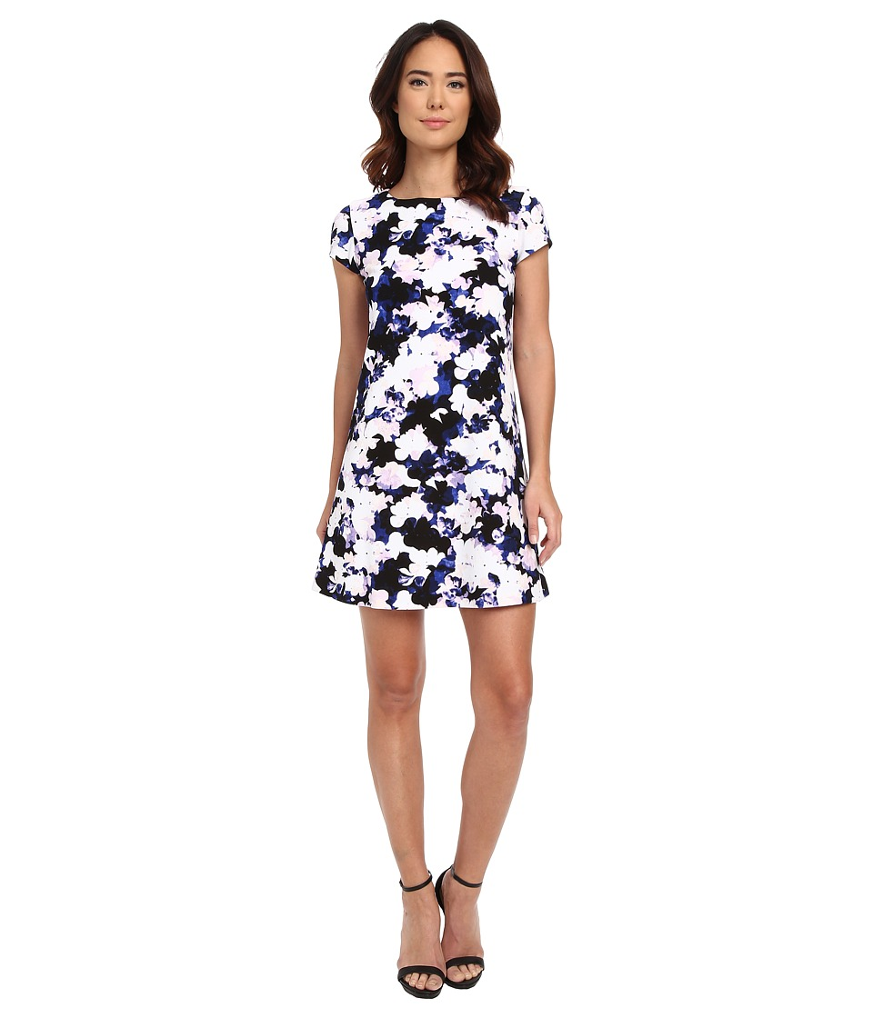 Jessica Simpson - Short Sleeve Floral Print Shift Dress (Print) Women's Dress