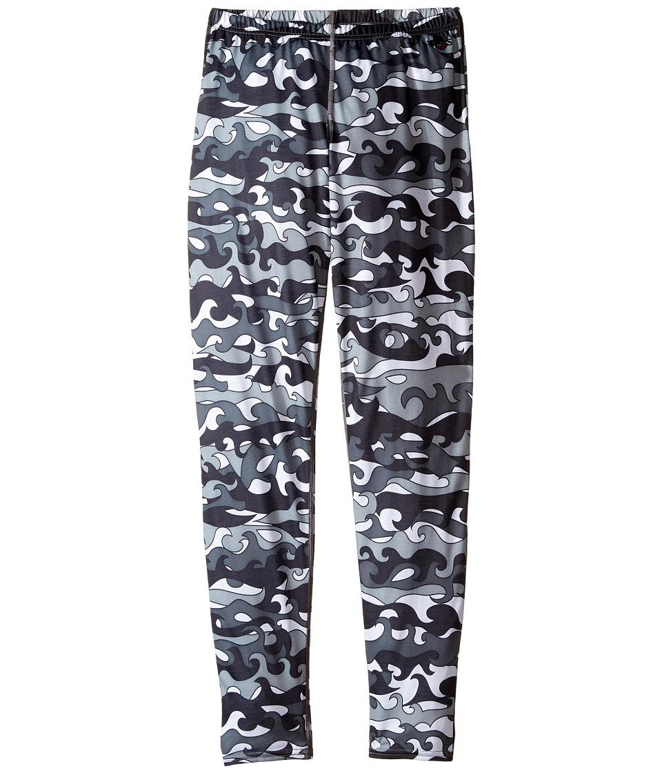 Hot Chillys Kids - Midweight Print Bottom (Little Kids/Big Kids) (Surf Day/Black) Boy's Clothing