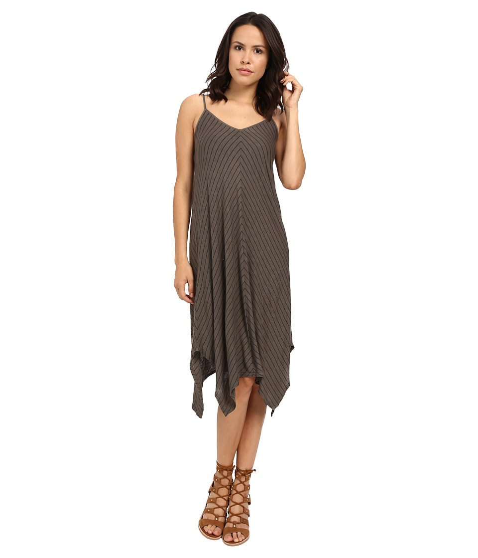 Splendid - Catalina Stripe Jersey Dress (Military Olive) Women's Dress