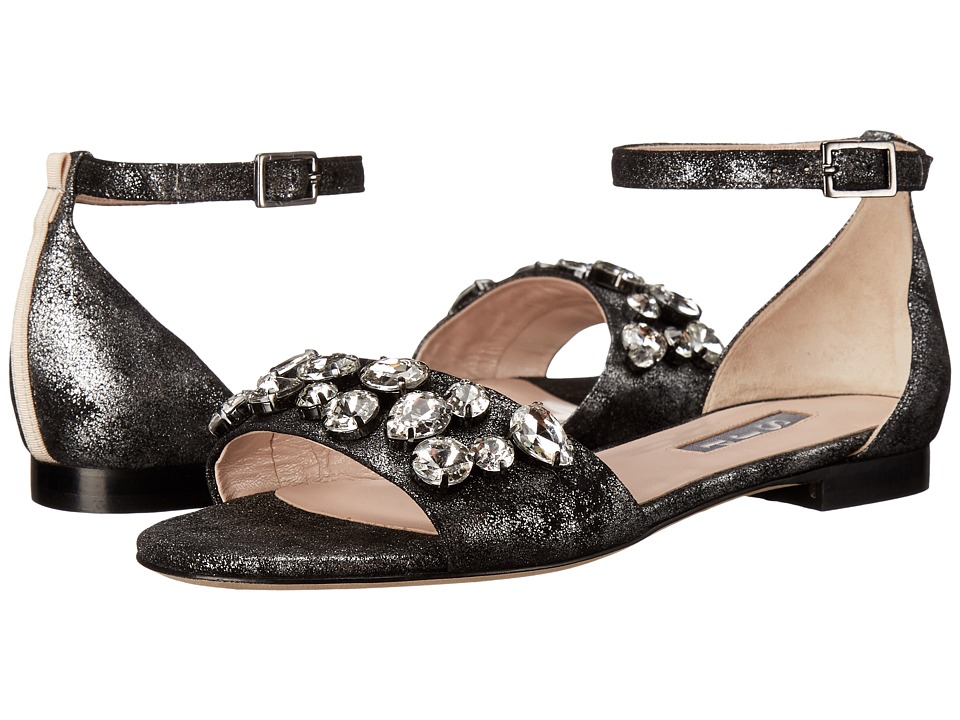 SJP by Sarah Jessica Parker - Fabienne (Ovando Trunk Gunmetal Suede) Women's Shoes