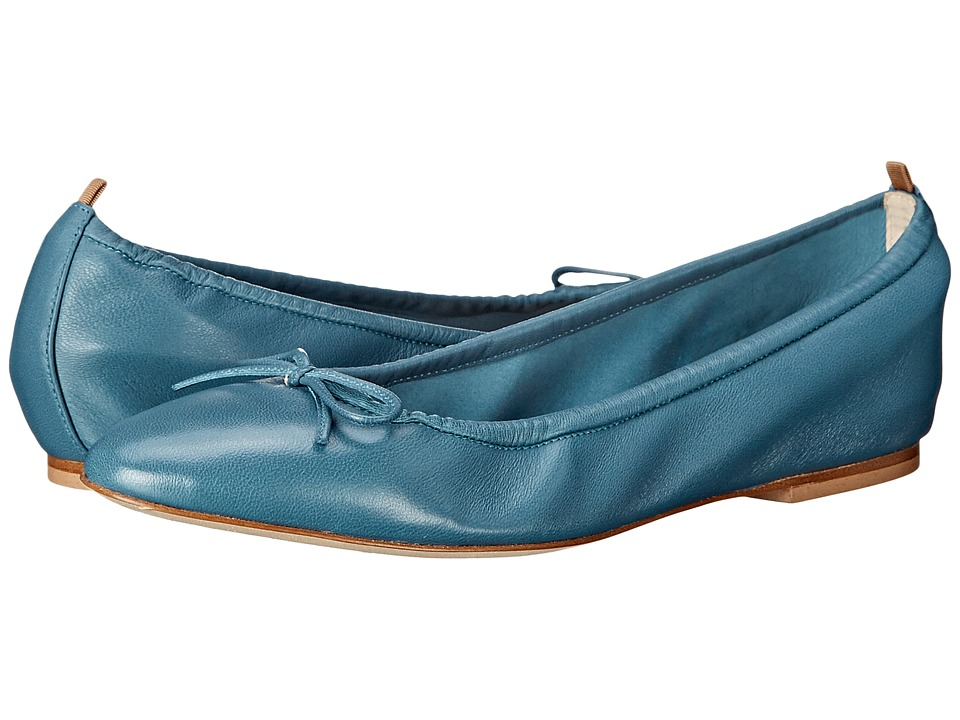 SJP by Sarah Jessica Parker - Gelsey Flat (Panama Blue Leather) Women's Flat Shoes