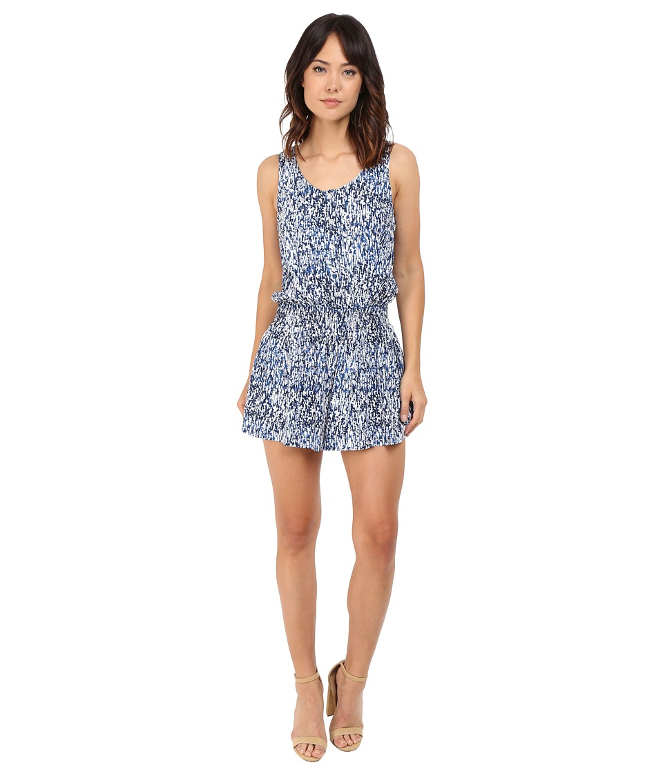 Splendid - Waterfall Print Romper (Navy) Women's Jumpsuit & Rompers One Piece
