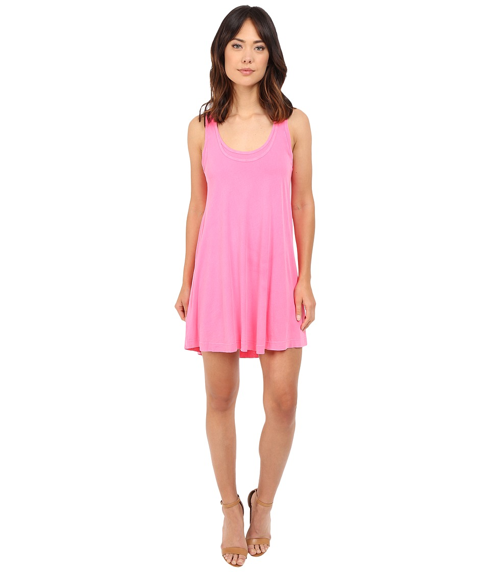 Splendid - Vintage Whisper Dress (Vintage Bright Flamingo) Women's Dress