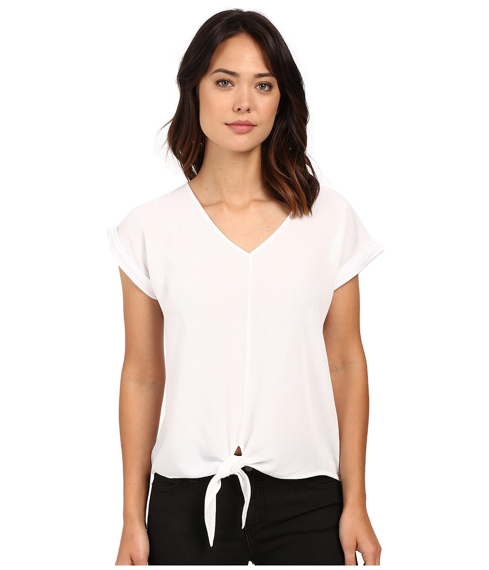 Splendid - Rayon Crinkle Gauze Tie Front Shirt (White) Women's Blouse