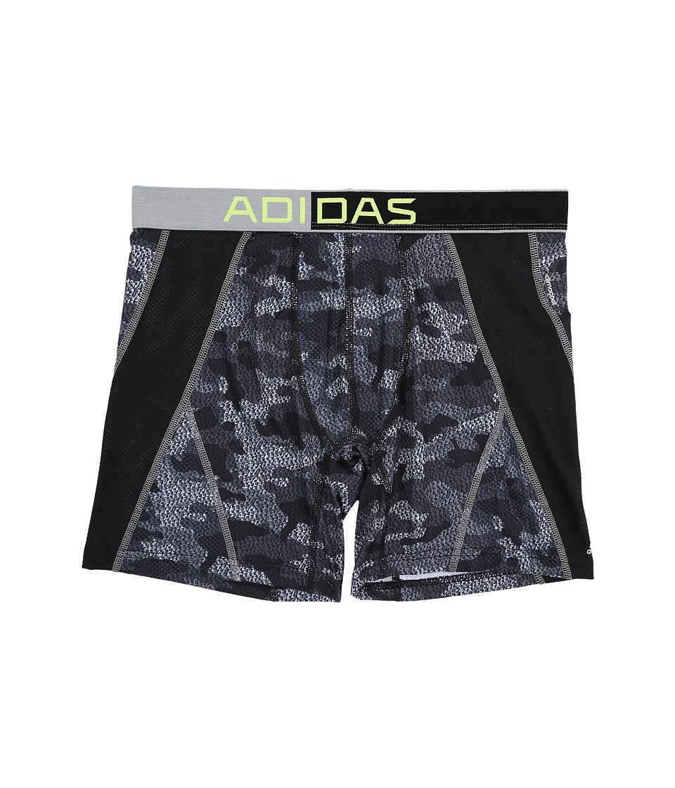 adidas - Climacool Mesh Graphic Single Boxer Brief (Grey Prime Camo/Black/Semi Solar Slime) Men's Underwear