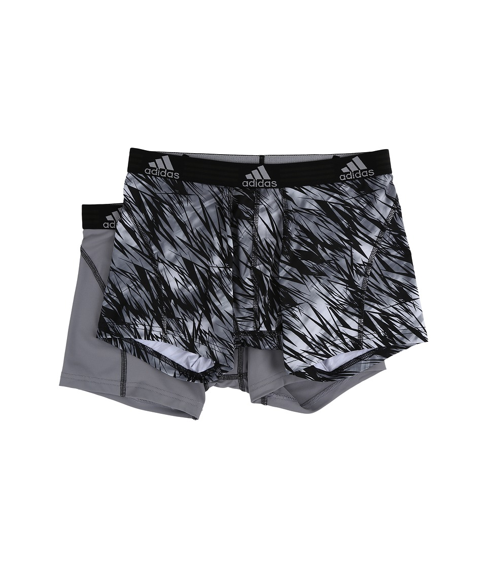 adidas - Sport Performance Climalite Graphic 2-Pack Trunk (Black Draven/Grey/Black) Men's Underwear