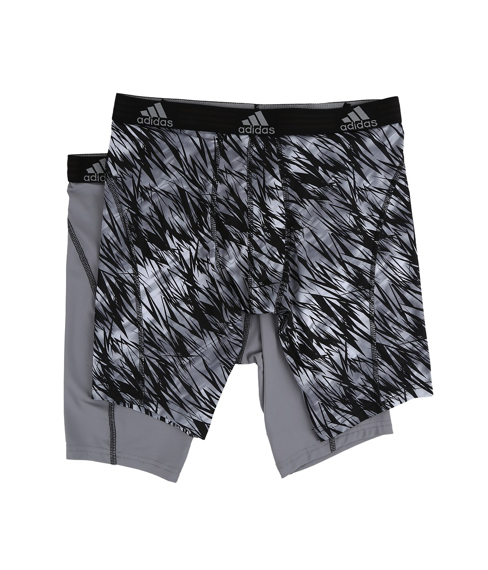 adidas - Sport Performance Climalite Graphic 2-Pack Midway (Black Draven/Grey/Black) Men's Underwear