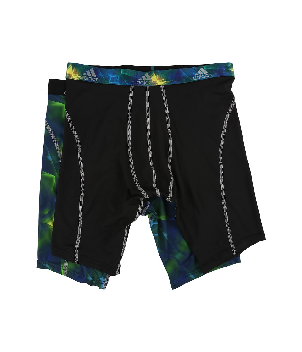 adidas - Sport Performance Climalite Graphic 2-Pack Midway (Grammer Solar Green/Grey/Black/Grey) Men's Underwear