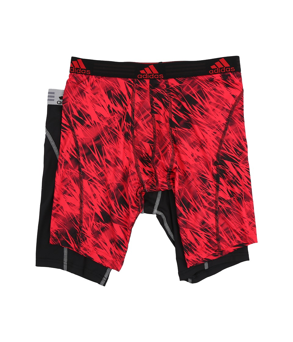 adidas - Sport Performance Climalite Graphic 2-Pack Midway (Real Red Draven/Black/Grey) Men's Underwear