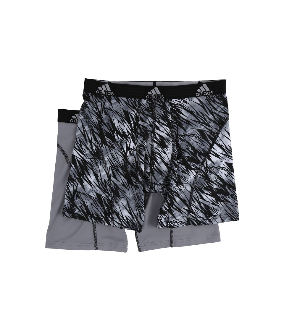 adidas - Sport Performance Climalite Graphic 2-Pack Boxer Brief (Black Draven/Grey/Black) Men's Underwear