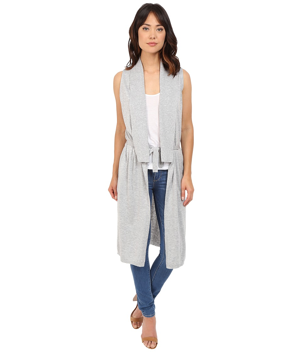 Splendid - Cashmere Blend Maxi Sweater Vest (Light Wheat) Women's Vest