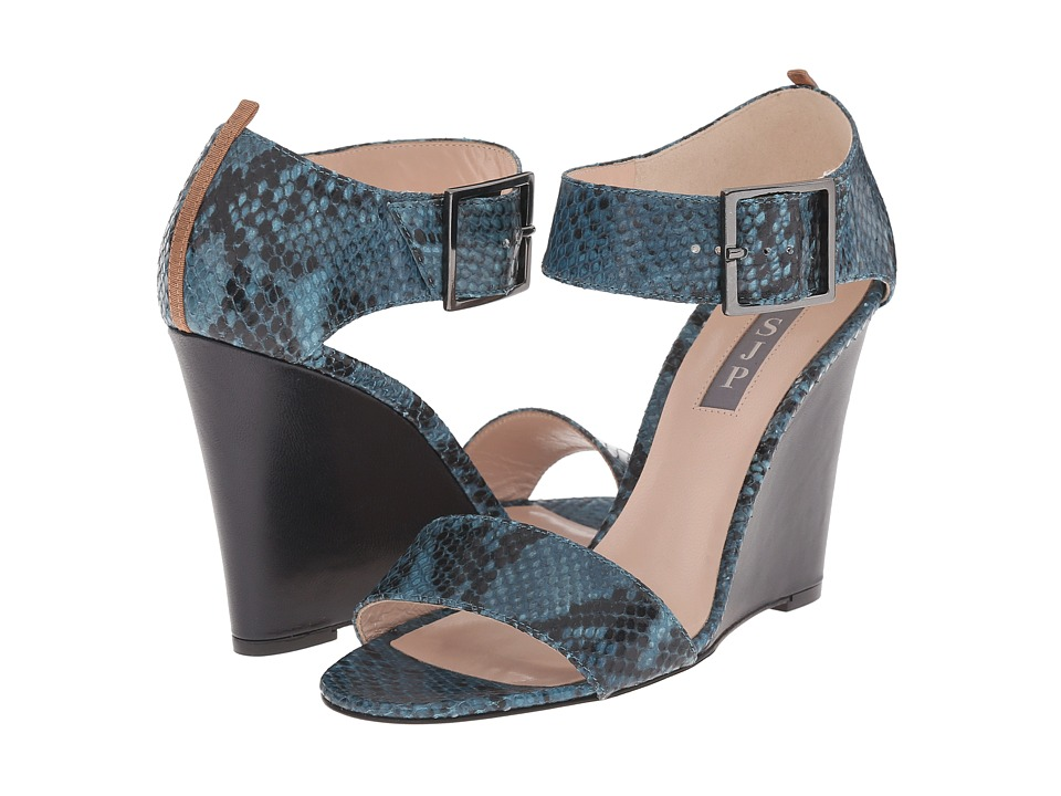 SJP by Sarah Jessica Parker - Tate (Treasury Dark Turquoise Print Python) Women's Shoes