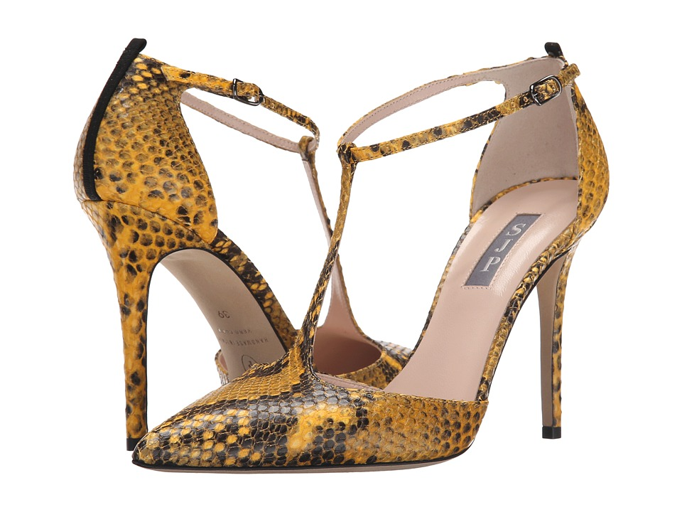 SJP by Sarah Jessica Parker - Taylor (Honeycomb Yellow Print Python) Women's Shoes