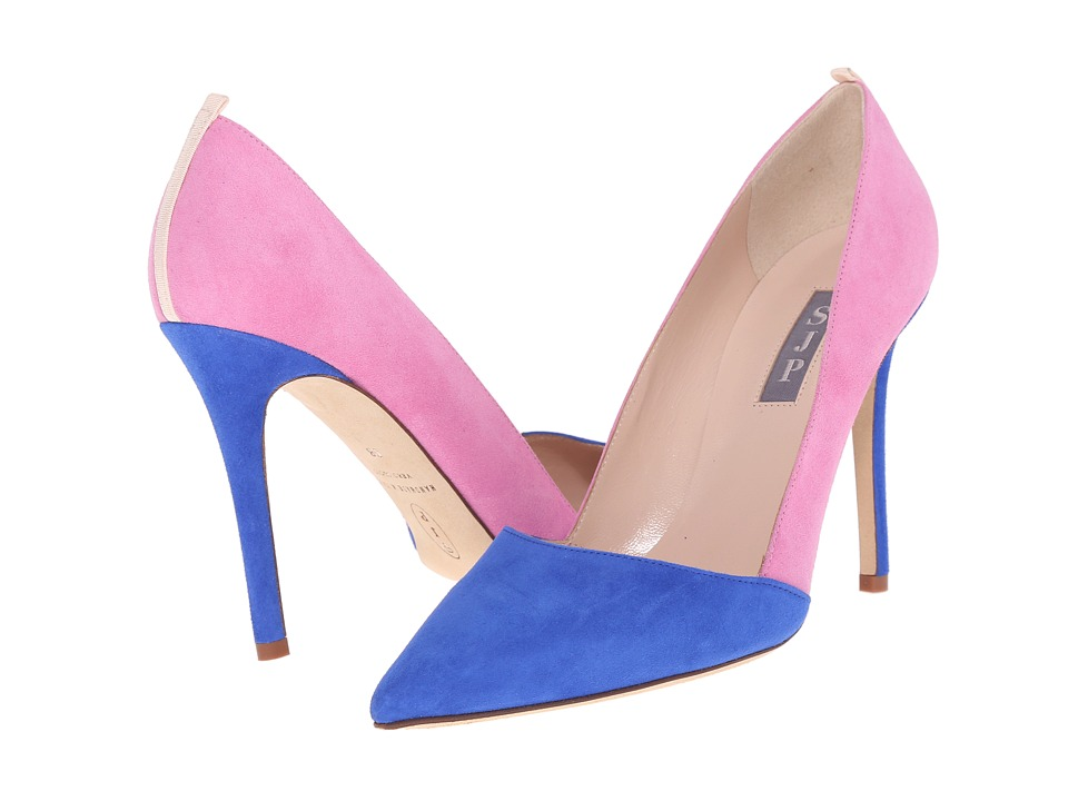 SJP by Sarah Jessica Parker - Rampling (Thierry Blue Suede/Lolli Pink Suede) Women's Shoes