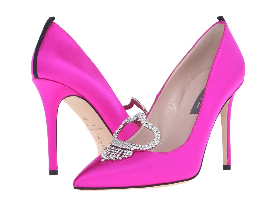 SJP by Sarah Jessica Parker - Charlotte (Candy Pink Satin) Women's Shoes