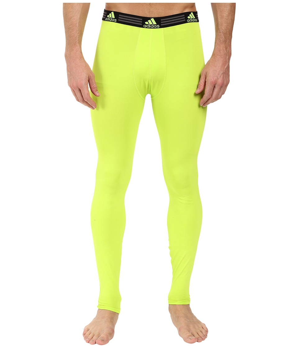 adidas - Climalite Single Base Layer Pants (Semi Solar Slime) Men's Underwear