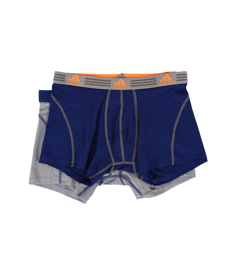 adidas - Sport Performance ClimaLite 2-Pack Trunk (Unity Ink/Light Onix/Light Onix/Unity Ink) Men's Underwear