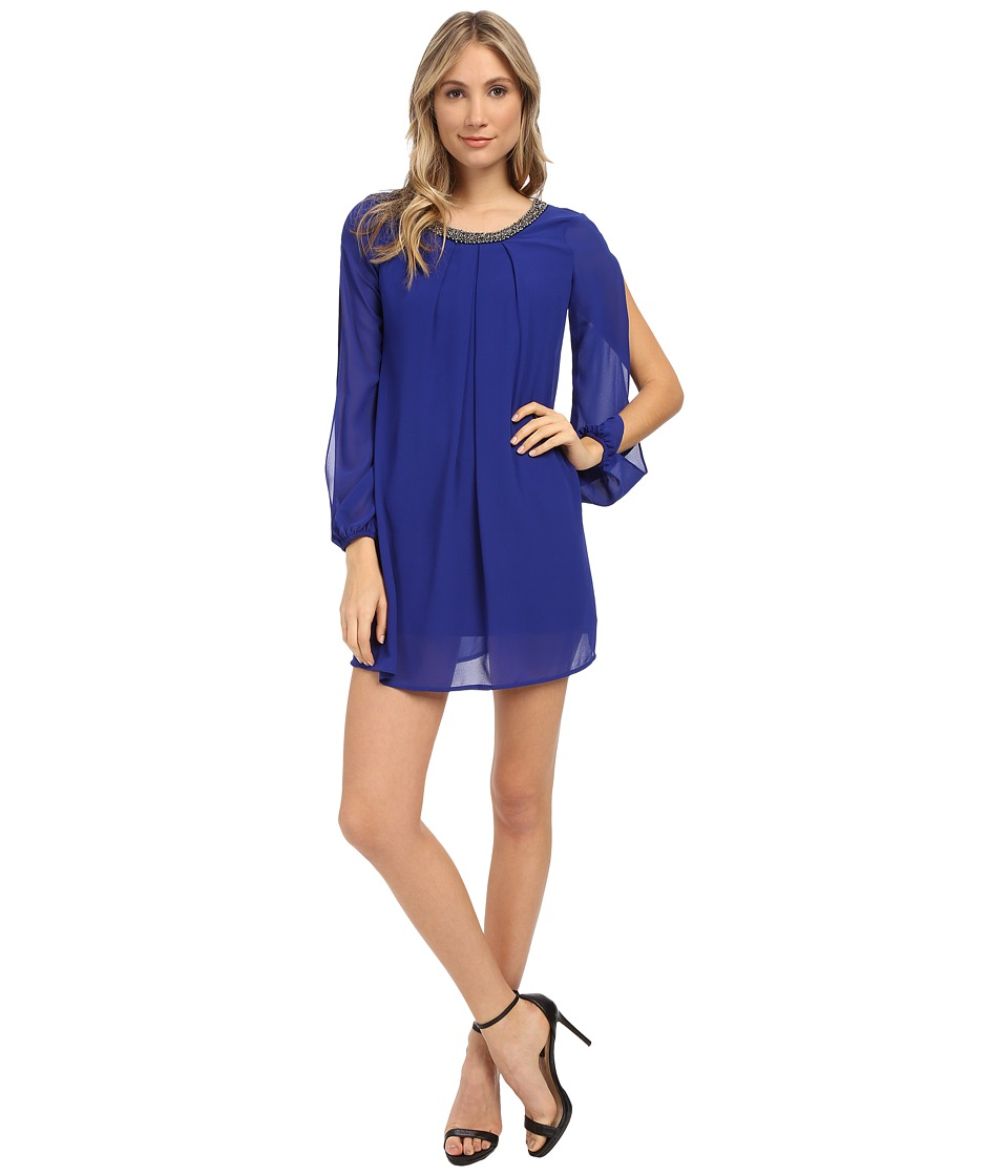 Brigitte Bailey - Pierce Long Sleeve Shift Dress (Royal Blue) Women's Dress