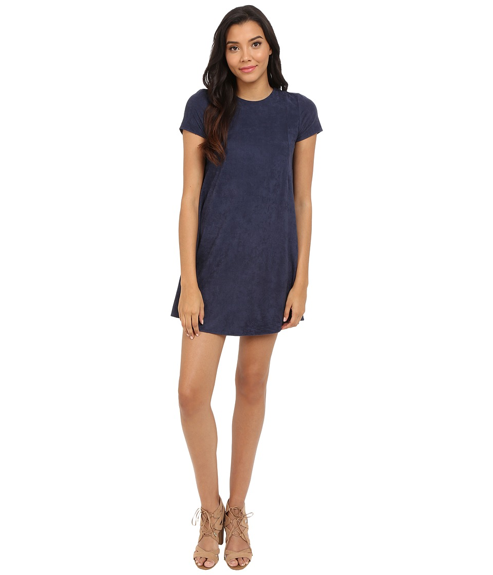 Brigitte Bailey - Raven Suede Dress (Navy) Women's Dress