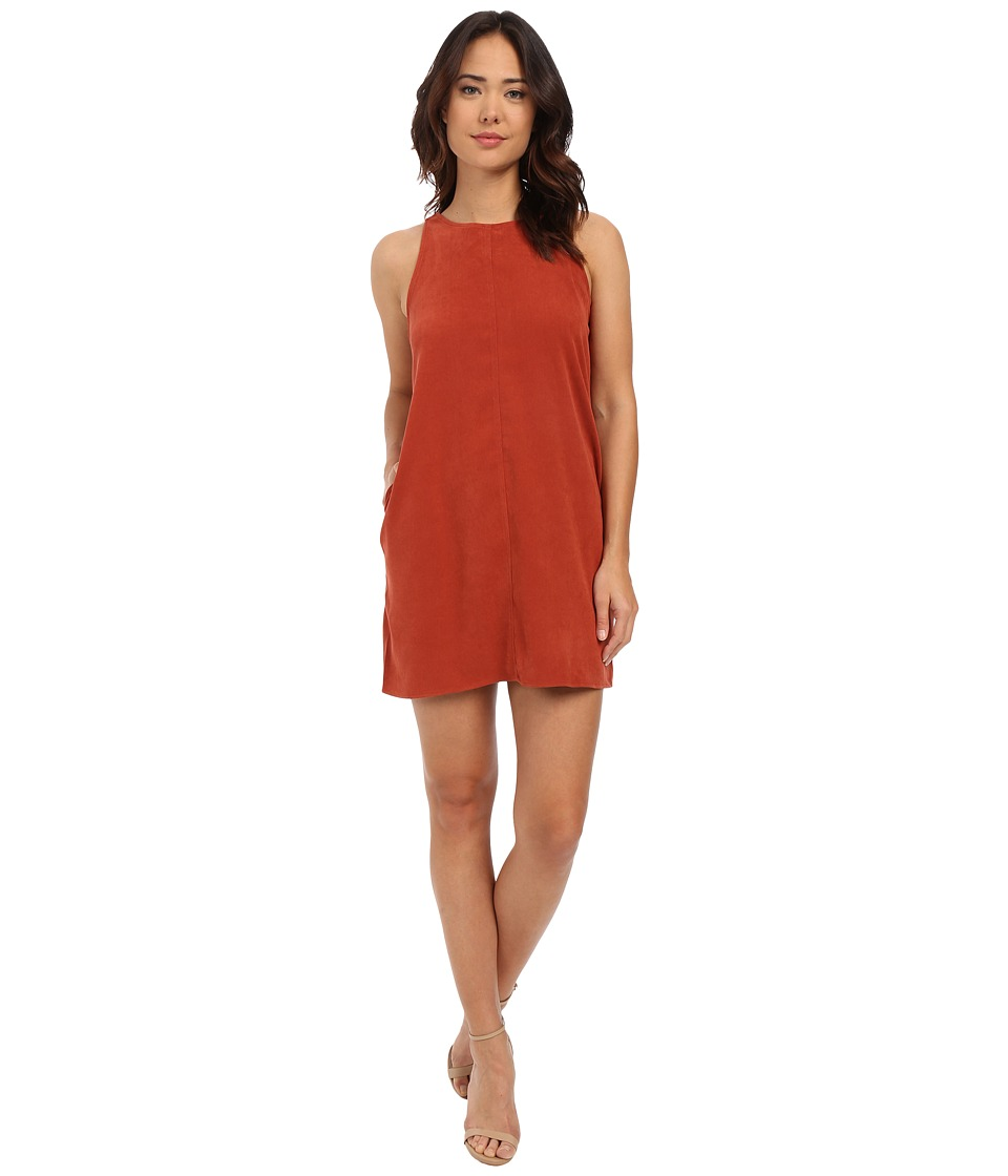 Brigitte Bailey - Anna Suede Swing Dress (Rust) Women's Dress