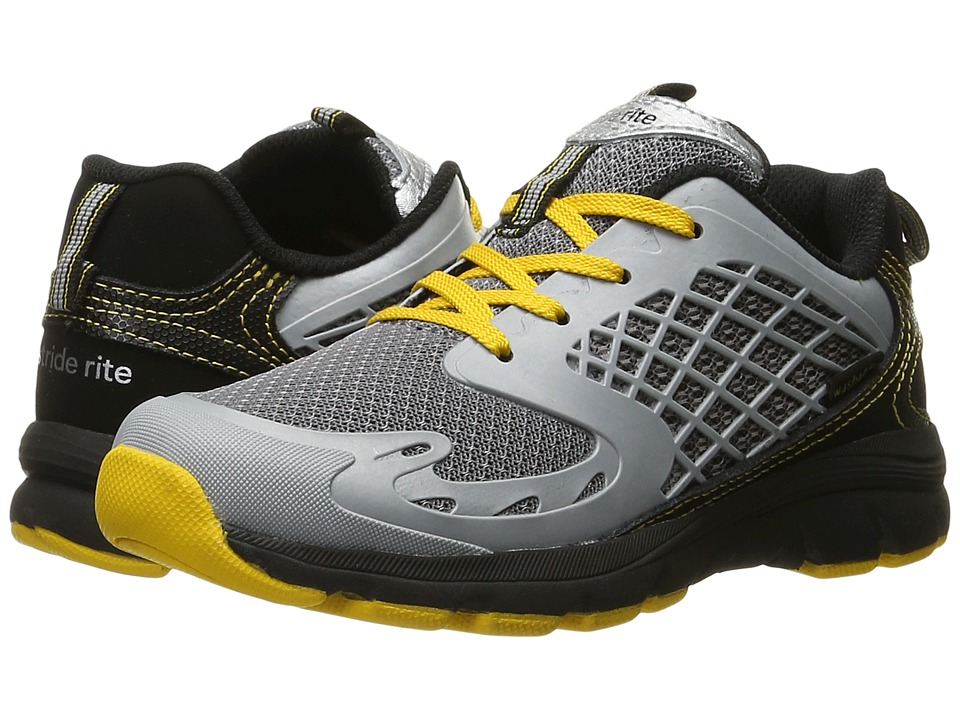 Stride Rite - Made to Play Breccen Lace (Little Kid) (Black/Yellow Leather/Mesh) Boy's Shoes