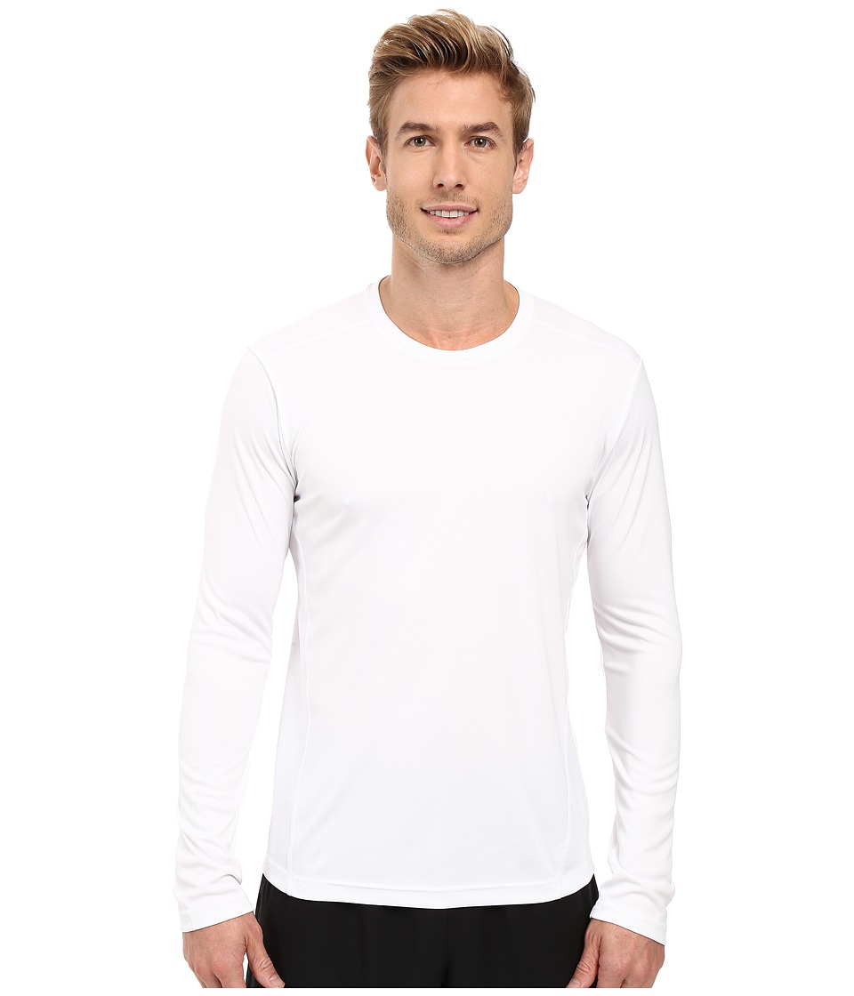 adidas - Climalite Single Long Sleeve Crew (White) Men's Underwear